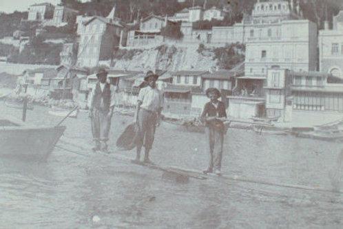 Photographie ancienne 1905 Marseille Port Pêcheurs