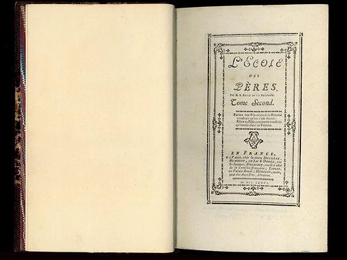 Rétif de la Bretonne (Restif de la Bretone). L'Ecole des Pères (1776)