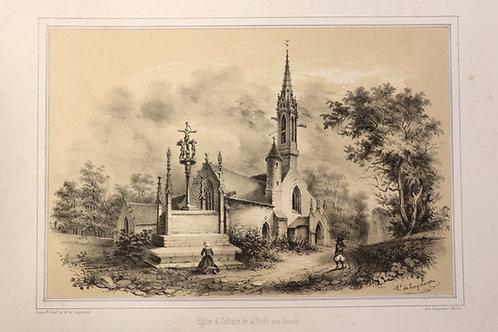 Armand de Longchamps. Album du Finistère (1854). 10 lithographies