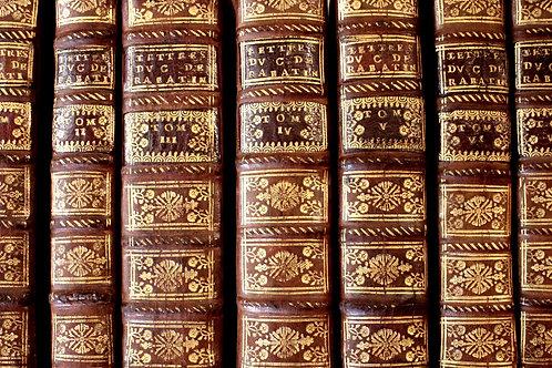 Bussy-Rabutin. Lettres et Nouvelles lettres (1727). Rare contrefaçon. Reliure