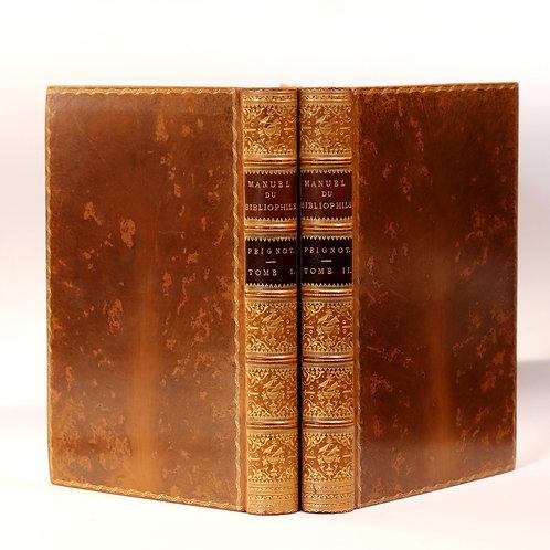 Gabriel Peignot. Manuel du Bibliophile (1823). Exemplaire de choix (Riviere)