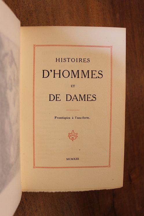 Lobel-Riche. Louis Perceau. Histoires d'Hommes et de Dames (1913). 1/500 ex.