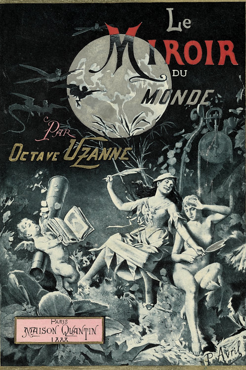 Paul Avril. Octave Uzanne. Estampe pour la couverture Le Miroir du Monde (1888)