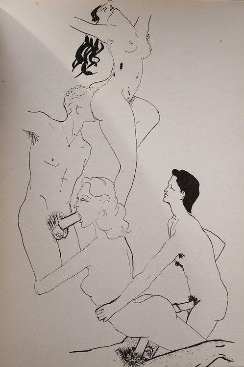 Mme de V... a des idées noires. 10 illustrations attribuées à Jean Boulet