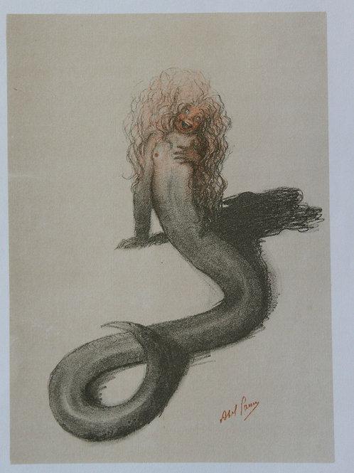 Abel Pann. Lithographie originale (1924). Judaïca. Images de la Bible