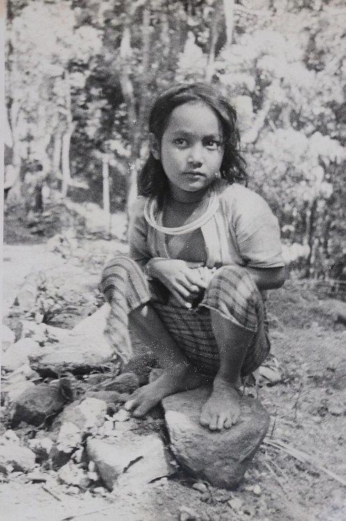 Photographie ancienne 1937 Viêt Nam Vinh Long enfant Moï 14 cm x 19 cm