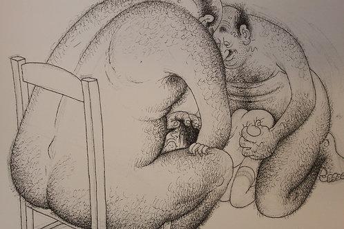 Albert Dubout. Estampe érotique. L'Oeuvre secrète (1982). Gay interest