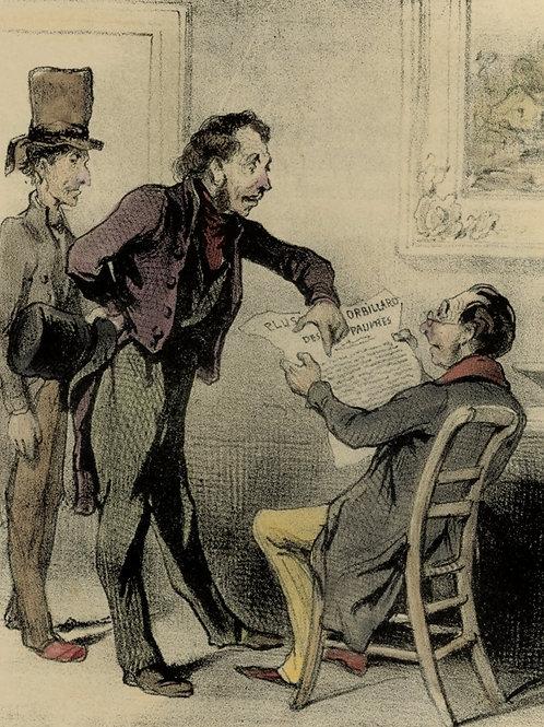 1839 Daumier Les Robert-Macaire Planche n°79 Caricature XIXe coloris époque rare