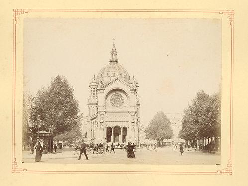 Paris 1890 1900 Photographie ancienne monument scène animée Tirage albumine 13