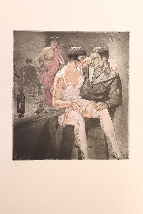 Léon Courbouleix. Le Vieux Port de Marseille (1927). Prostitution. 12 gravures.