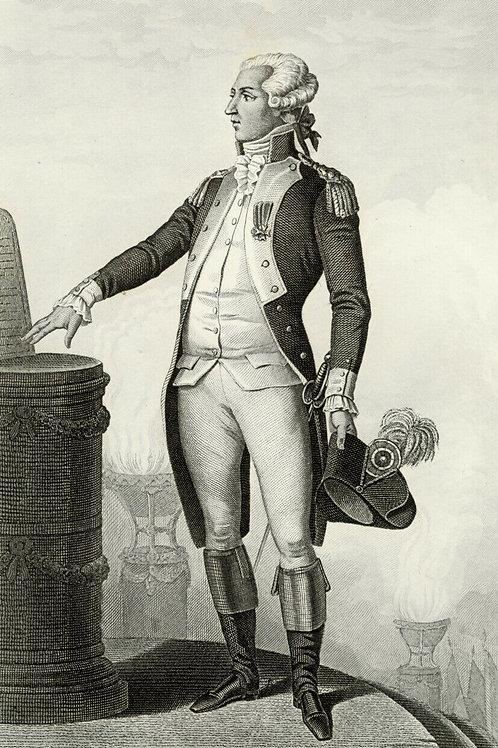 LAFAYETTE 1840 / 1850 Portrait révolution française Belle Gravure acier