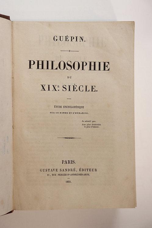 Angé Guépin. Philosophie du XIXe siècle (1854). Humanisme.