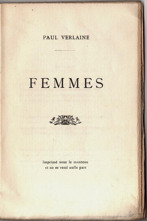 Femmes par Paul Verlain. Vers 1902. Tirage à 500 ex