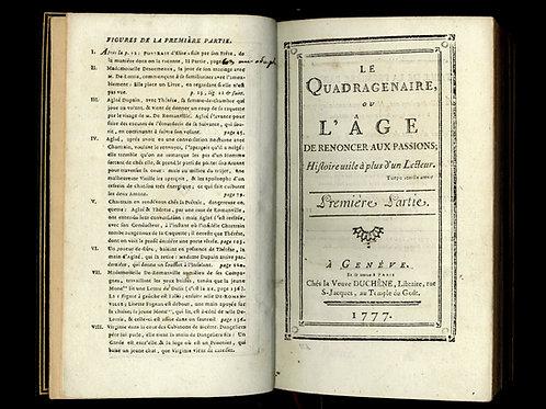 Rétif de la Bretonne [Restif de la Bretone]. Le Quadragénaire. 1777. EO Maroquin