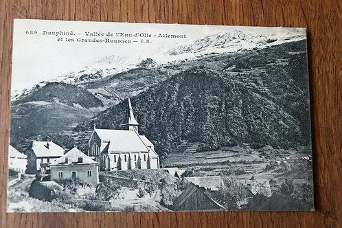 CPA Dauphiné Vallée de l'Eau-D'olle - Allemont et les grandes Rousses