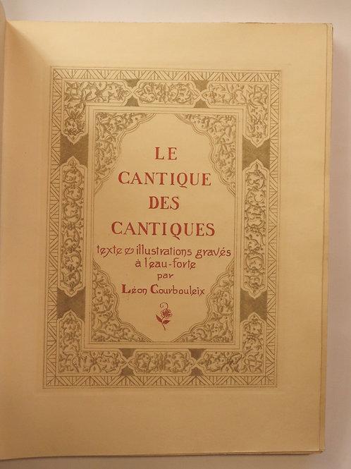 Léon Courbouleix. Le cantique des cantiques (1935). 1/20 ex. Japon. Superbe