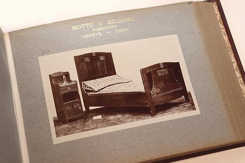 Chambres à coucher (1910-1920). Firme Mottu & Julliard (Genève et Paris). Rare
