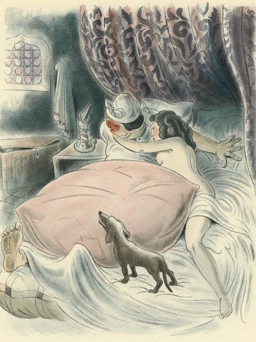 André Collot. Estampe originale curiosa (1934) pour Balzac (Contes drolatiques)