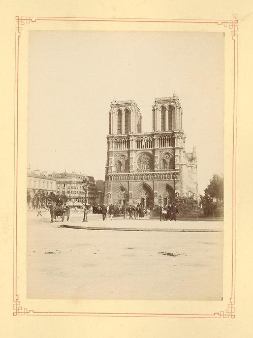 Paris 1890 1900 Photographie ancienne monument scène animée Tirage albumine 7