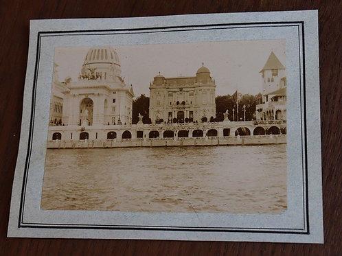 Paris 1900 Photographie ancienne Pavillons Exposition Universelle 1900 Seine