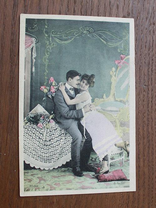 CPA fantaisie colorisée amour galanterie Camp de Bréan Fontainebleau