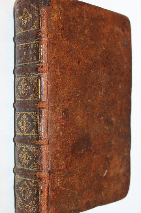 Remarques Nouvelles sur la Langue Française par le Père Bouhours (1682)