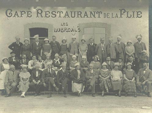 """Vers 1940 Photo ancienne réunion de famille cousinade des """" DUBREUIL """" Flie"""