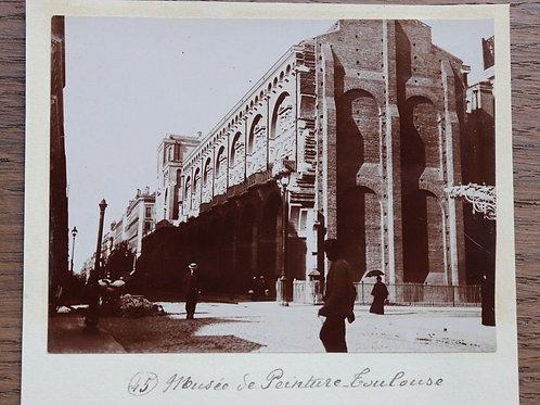 Photographie ancienne 1899 Musée de la peinture Toulouse