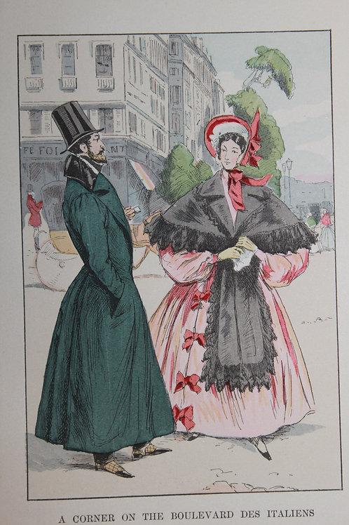 Gravure de mode coloriée. François Courboin (1901). Fashion in Paris
