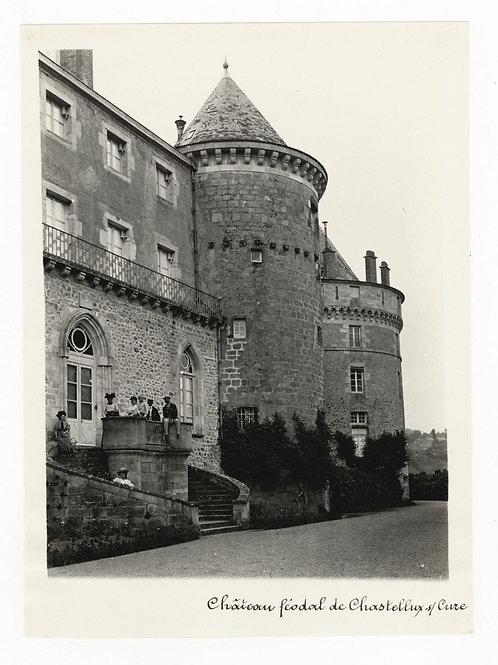 Photographie ancienne vers 1910 Chastellux-sur-Cure Yonne Bourgogne Château 1