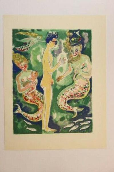 Kees Van Dongen Estampe couleurs 1955 aquarelle Mille et une nuits Oriental N°61