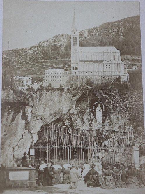 Photographie originale d'époque ancienne 1900Chapelle-de-N-D-de-Lourde