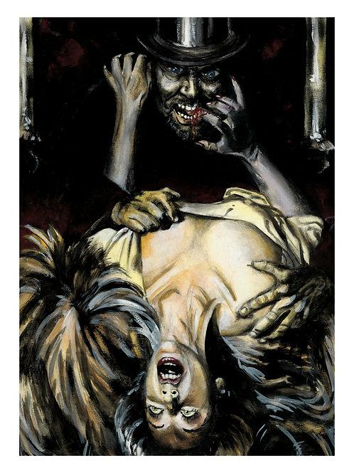 Dessin original (gouache). Jack the Ripper (vers 1979-1980). 30 x 22 cm. Unique