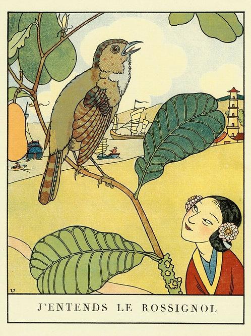 1932 ALBERT URIET illustration ENFANTINA Contes d'ANDERSEN Rossignol
