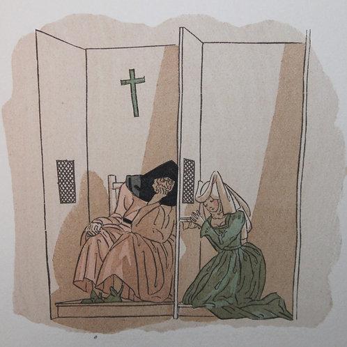 Contes et Nouvelles de La Fontaine illustré par Sylvain Sauvage (1944). Dessin