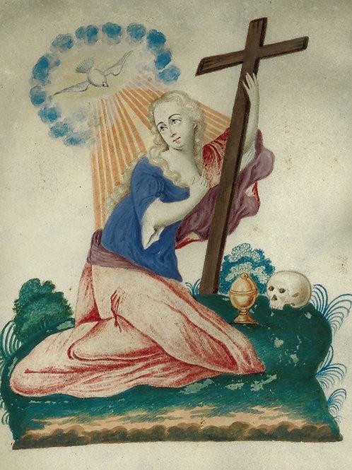 Marie-Madeleine [Marie de Magdala]. Peinture miniature sur vélin (XVIIIe s.)