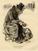 Le bouquiniste-étalagiste par Paul Gavarni (1840)