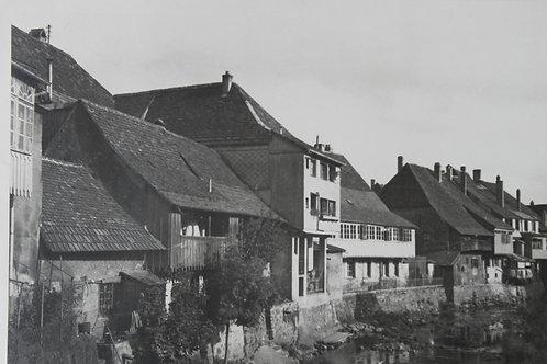 Masevaux en Alsace. Photographie originale années 1950