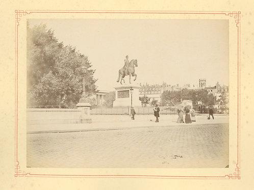 Paris 1890 1900 Photographie ancienne monument scène animée Tirage albumine 18