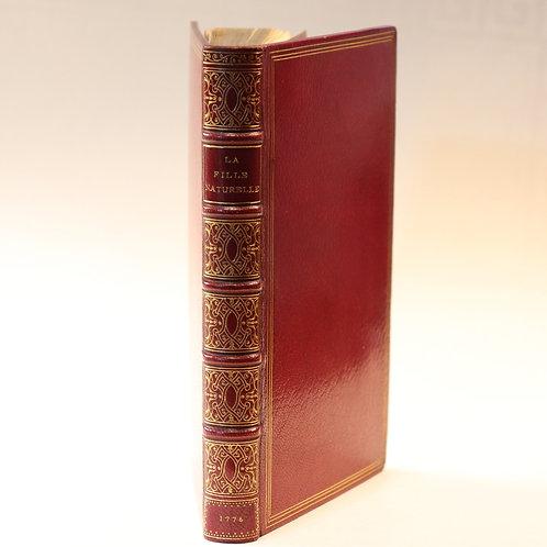 Rétif de La Bretonne. La Fille naturelle (1776). Rare contrefaçon. Reliure