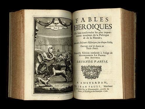Audin. Bruzen de La Martinière. Fables héroïques (1720). 60 vignettes. Bel ex.