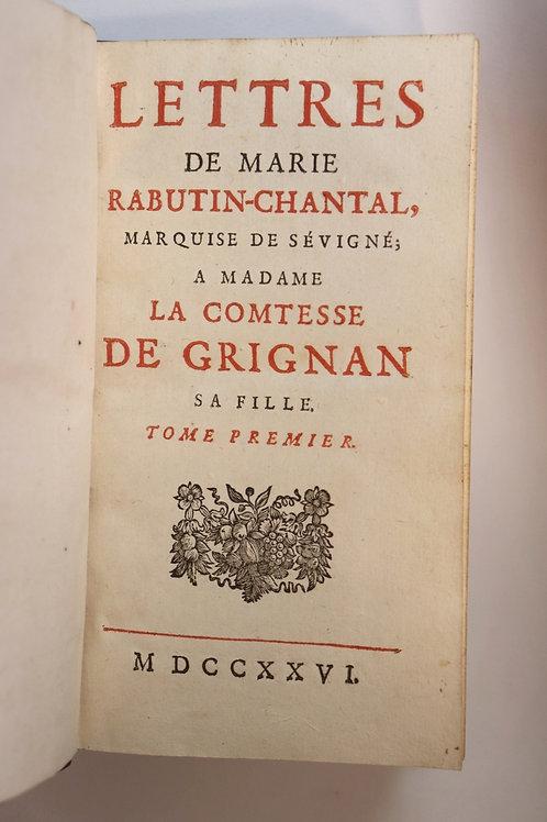 Marquise de Sévigné (Rabutin-Chantal). Lettres à sa fille Madame de Grignan 1726