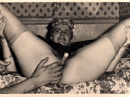 Photographie Amateur Vintage X (vers 1965). Bougie ...
