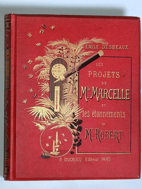 Les Projets de Mlle Marcelle desbeaux Cartonnage éditeur décoré 1885