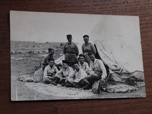 CPA Photo ancienne 1935 Maroc Afrique Soldats Camp de Médiouna