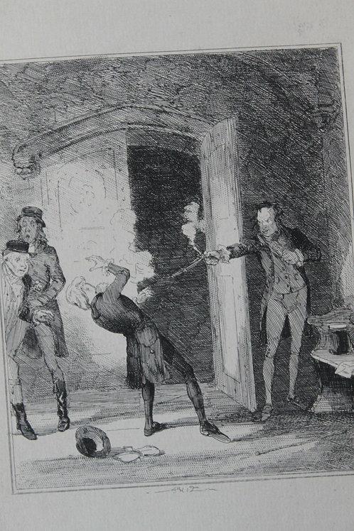 1880 Gravure Phiz Chronicles of crime, Assassination of Perceval