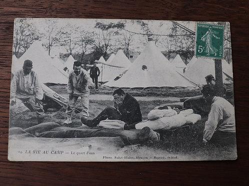 CPA militaire La vie au camp Le quart d'eau soldat Alençon