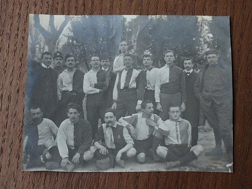 Photographie ancienne vers 1905 équipe de sport Sportifs