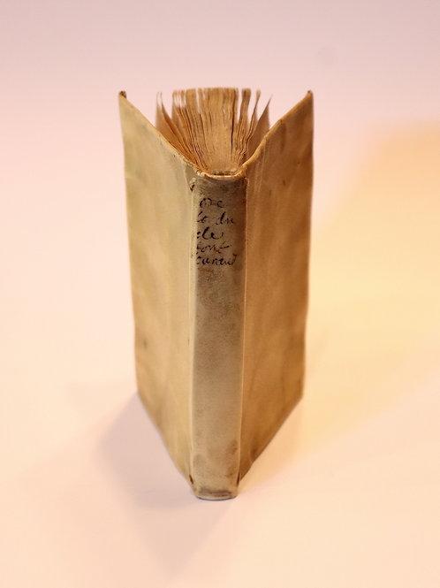 Raison de l'institut de l'ordre de Font-Evraud [Fontevraud]. 1623. Rarissime.