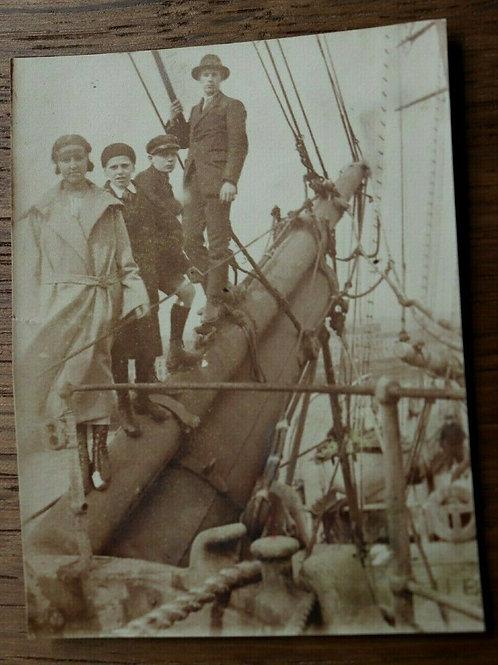 Photo ancienne 1923 Voilier Beaupré du Fort de France